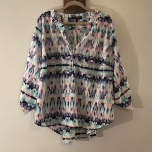 Long sleeve blouse by Fred Davis size 3X